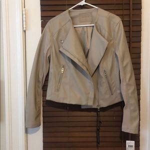 Blank NYC Tan Moto Jacket